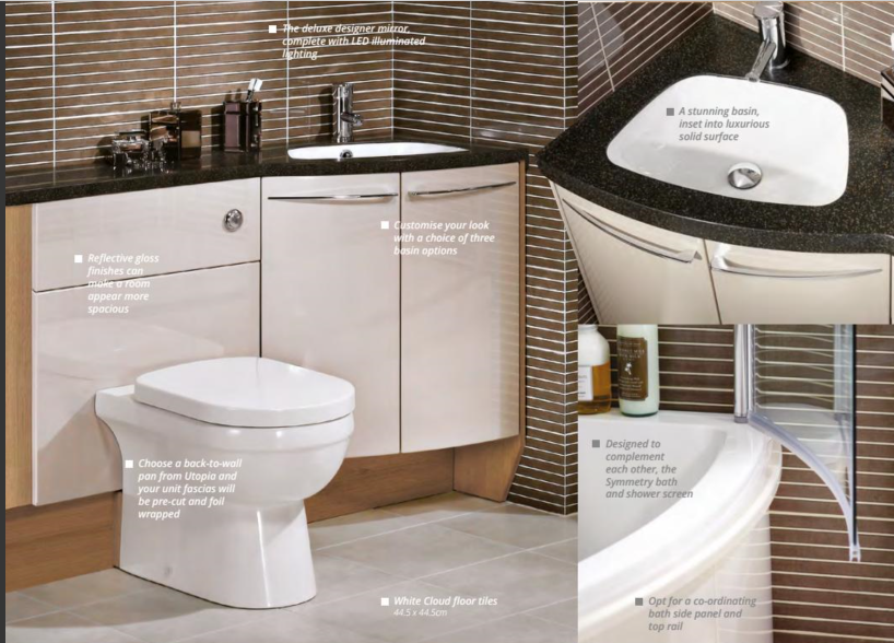 Symmetry Furniture modern line bathrooms: special items